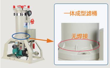PP材料电镀过滤机主体
